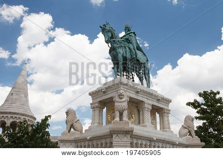 Horse Riding Statue Of Stephen I Of Hungary, Fishermen's Bastion, Budapest