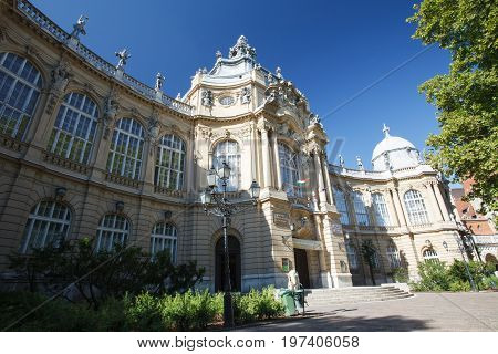 Building Of Agricultural Museum In City Park In Budapest, Hungary. City Park Is Located Near The Cit
