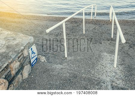 Beach Access And Sign For The Disabled 2