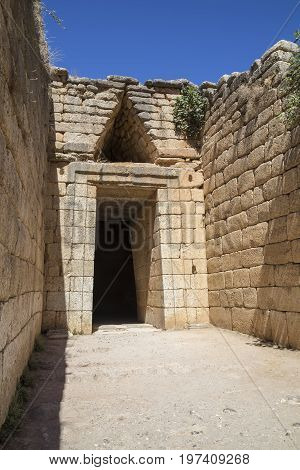 Entrance To The Agamemnon's Tomb