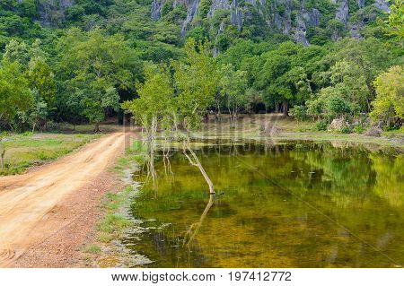 The Dirt Road To Khao Dang Viewpoint, Sam Roi Yod National Park, Phra Chaup Khi Ri Khun Province In