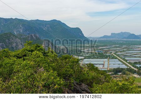 Mountain Range Landscape View Of Khao Dang Viewpoint, Sam Roi Yod National Park, Phra Chaup Khi Ri K