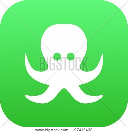 Vector Devilfish Element In Trendy Style.  Isolated Octopus Icon Symbol On Clean Background.
