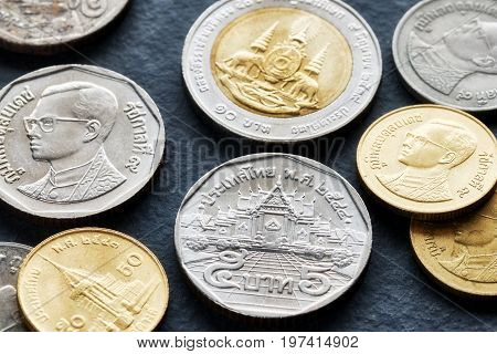 Close Up Picture Of Thai Baht.