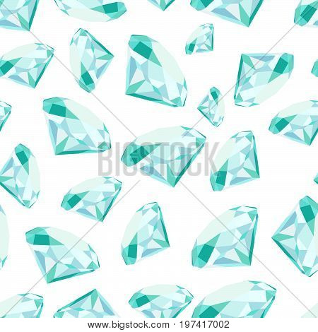 Diamond Gemstone Seamless Pattern