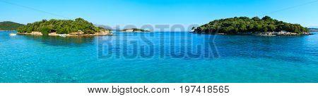 View From Ksamil Beach, Albania.