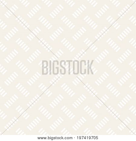 Crosshatch vector seamless geometric pattern. Crossed graphic rectangles background. Checkered motif. Seamless subtle texture of crosshatched bold lines. Trellis simple fabric print.