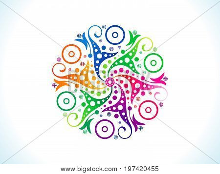 abstract artistic creative rainbow circle vector illustration