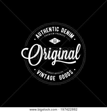 Original typography for t-shirt print. Apparel fashion design. Vector illustration