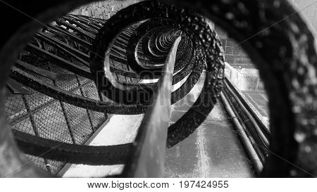 forged metal element close up. Abstract spiral