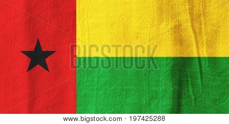 Guinea-bissau Fabric Flag  National Flag From Fabric For Graphic Design.