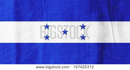 Honduras Fabric Flag  National Flag From Fabric For Graphic Design.