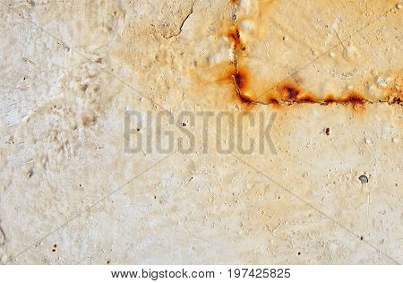 Background, Texture Old Rusty Iron Wall with Peeling Painted