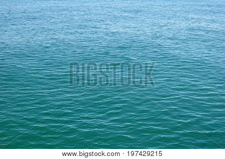 Natural Background, Sea Landscape, Turquoise Water with a Small Ripple