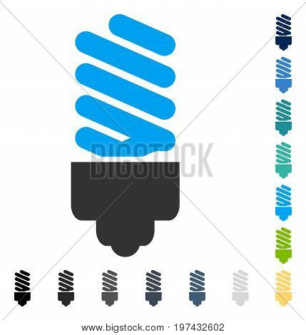 Fluorescent Bulb icon. Vector illustration style is flat iconic symbol in some color versions.