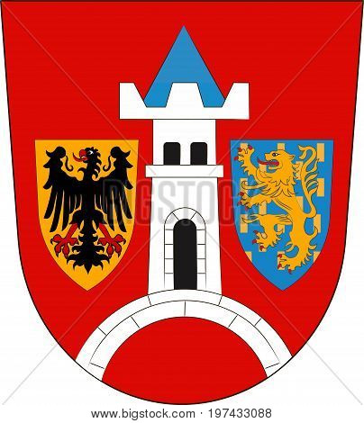 Coat of arms of Schwabach in Middle Franconia Bavaria of German. Vector illustration from the
