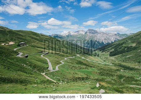 Alpine Swiss landscape