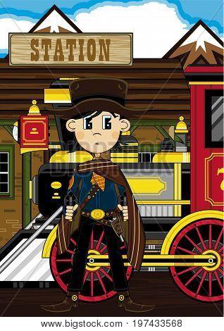 Sheriff Cowboy By Station