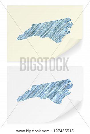 North Carolina Scribble Map
