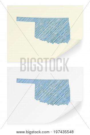 Oklahoma Scribble Map
