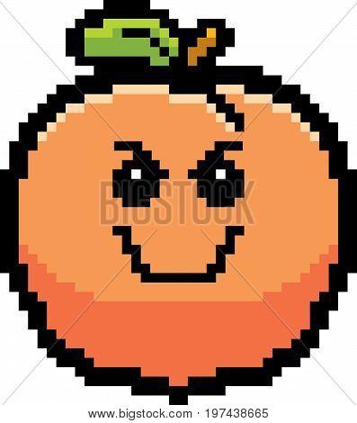 Evil 8-bit Cartoon Peach