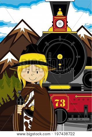 Mini Cowboy Train Scene.eps
