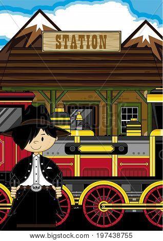 Mini Cowboy At Station