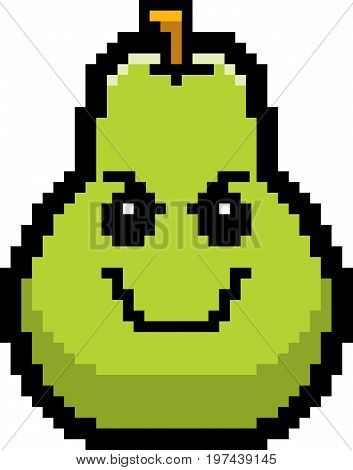 Evil 8-bit Cartoon Pear