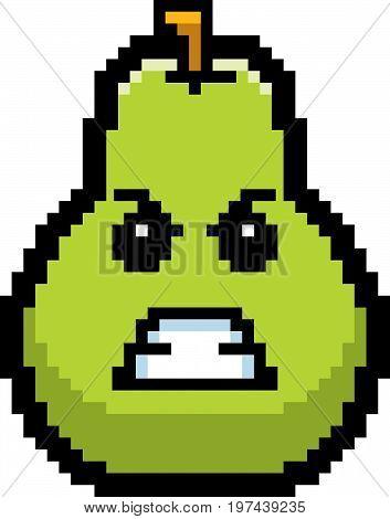 Angry 8-bit Cartoon Pear