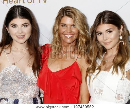 LOS ANGELES - JUL 27:  Olivia Jade Giannulli, Lori Laughlin, Isabella Rose Giannulli at the Hallmark TCA Summer 2017 Party at the Private Residence on July 27, 2017 in Beverly Hills, CA