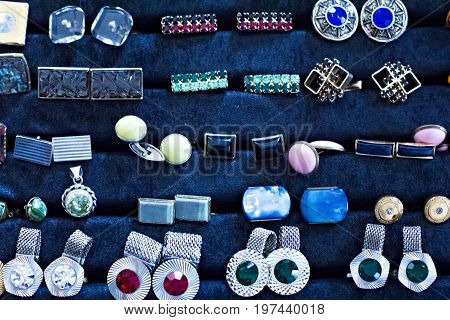 A Collection Of Vintage Cufflinks, Ornaments.