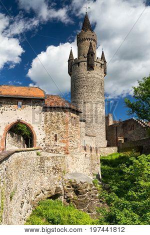 Northern gate and Adolfsturm of Castle Friedberg Hesse Germany