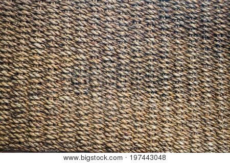 Vintage handicraft reed texture background stock photo