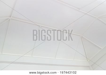 Vintage white building hall interior stock photo