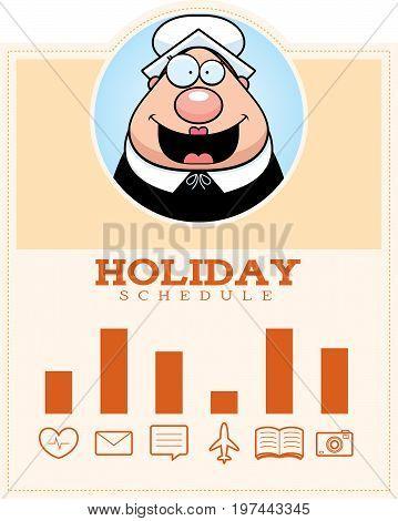 Cartoon Thanksgiving Pilgrim Graphic
