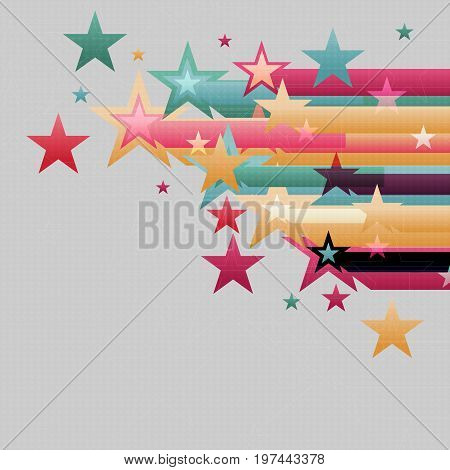 Abstract Background Stars Rush Into Frame From Right Side