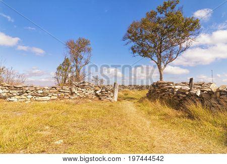 Stone Curral. Serra da Canastra National Park is a national park in the Canastra Mountains of the state of Minas Gerais Brazil.