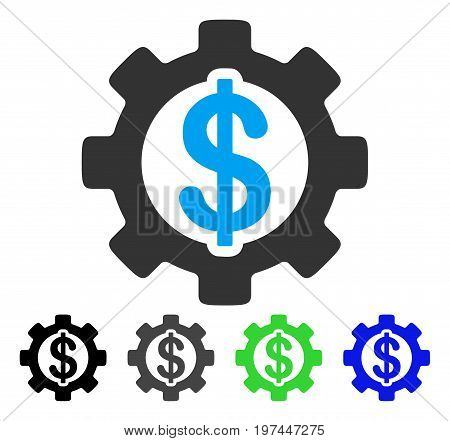 Development Cost flat vector icon. Colored development cost gray black blue green pictogram variants. Flat icon style for web design.