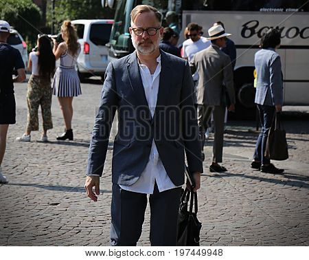 FLORENCE- 13 June 2017 Bruce Pask on the street during the Pitti