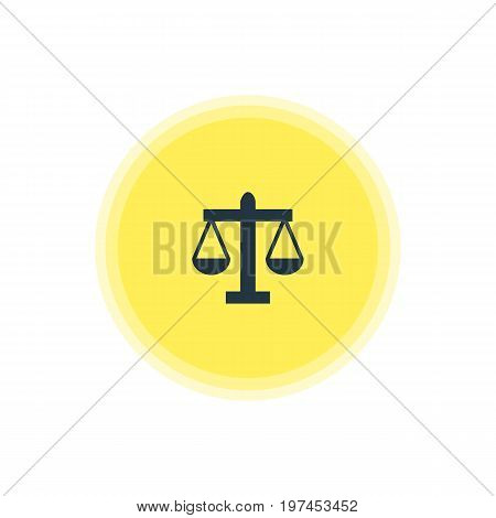 Beautiful Location Element Also Can Be Used As Scales Element.  Vector Illustration Of Law Icon.