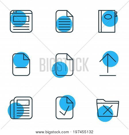 Editable Pack Of Minus, Delete, Book And Other Elements.  Vector Illustration Of 9 Workplace Icons.
