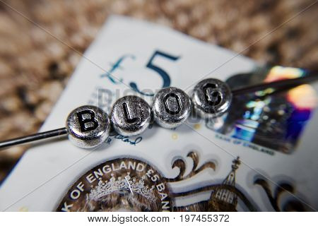 Blog Silver Letters