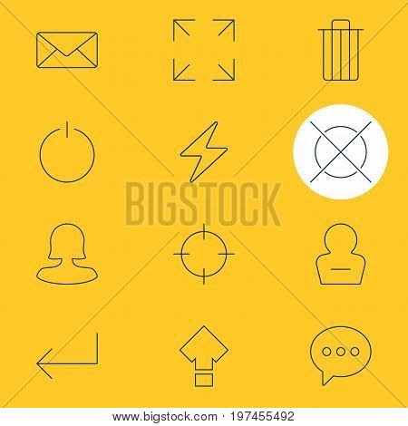 Editable Pack Of Wide Monitor, Displacement, Cancel And Other Elements.  Vector Illustration Of 12 UI Icons.