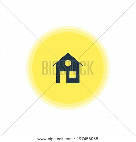 Beautiful Web Element Also Can Be Used As House Element.  Vector Illustration Of Home Icon.