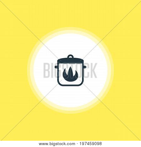 Beautiful Kitchenware Element Also Can Be Used As Stewpot  Element.  Vector Illustration Of Hot Pan Icon.