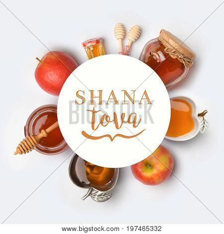 Jewish Holiday Rosh Hashana Banner Design