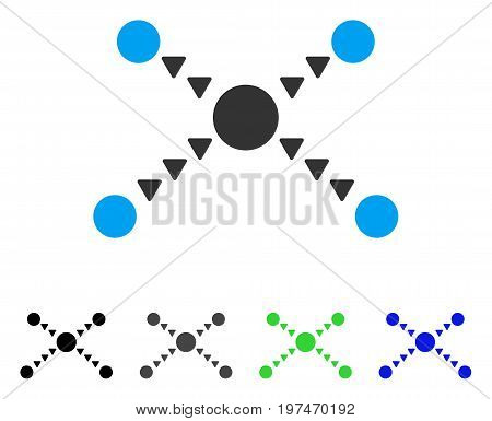 Dotted Links flat vector icon. Colored dotted links gray, black, blue, green pictogram versions. Flat icon style for web design.
