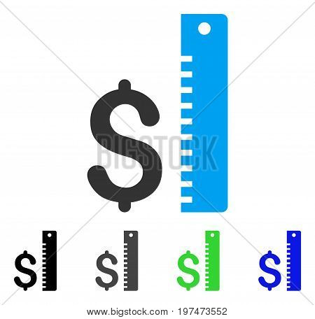 Dollar Rate flat vector pictograph. Colored dollar rate gray, black, blue, green pictogram versions. Flat icon style for graphic design.