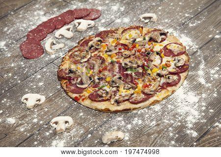 Freshly Baked Homemade Pizza