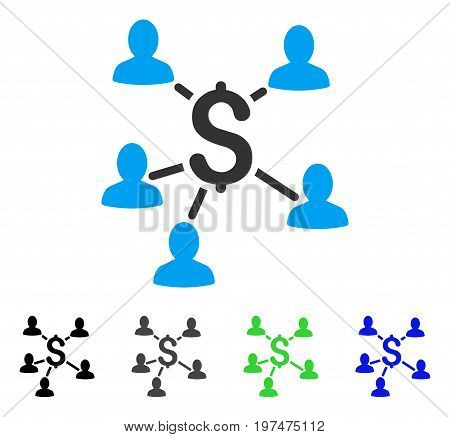 Payment Clients flat vector pictogram. Colored payment clients gray, black, blue, green pictogram variants. Flat icon style for web design.